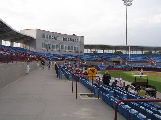 The aisleway at Ed Smith Stadium, Sarasota