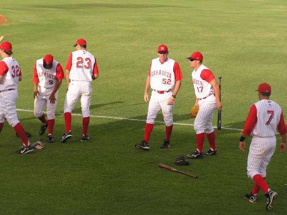 Pre-Game at Ed Smith Stadium, Sarasota, Fl
