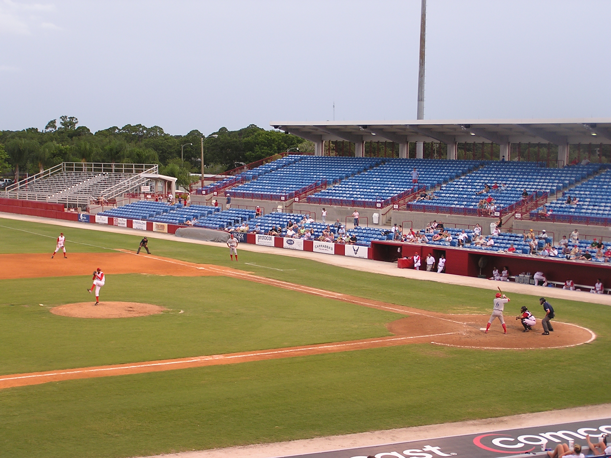 Ed Smith Stadium from the 3rd base side