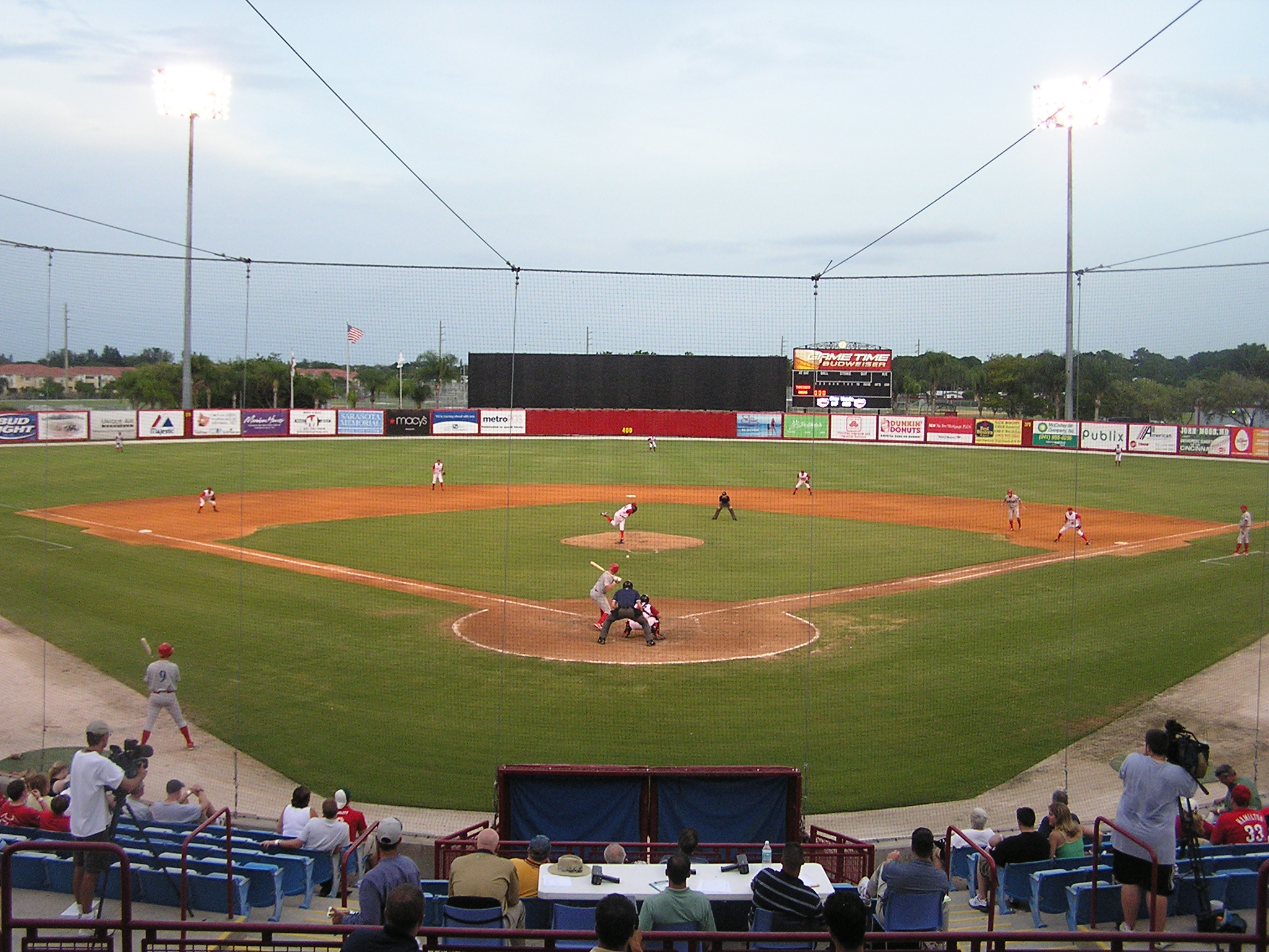 Ed Smith Stadium from behind Home Plate