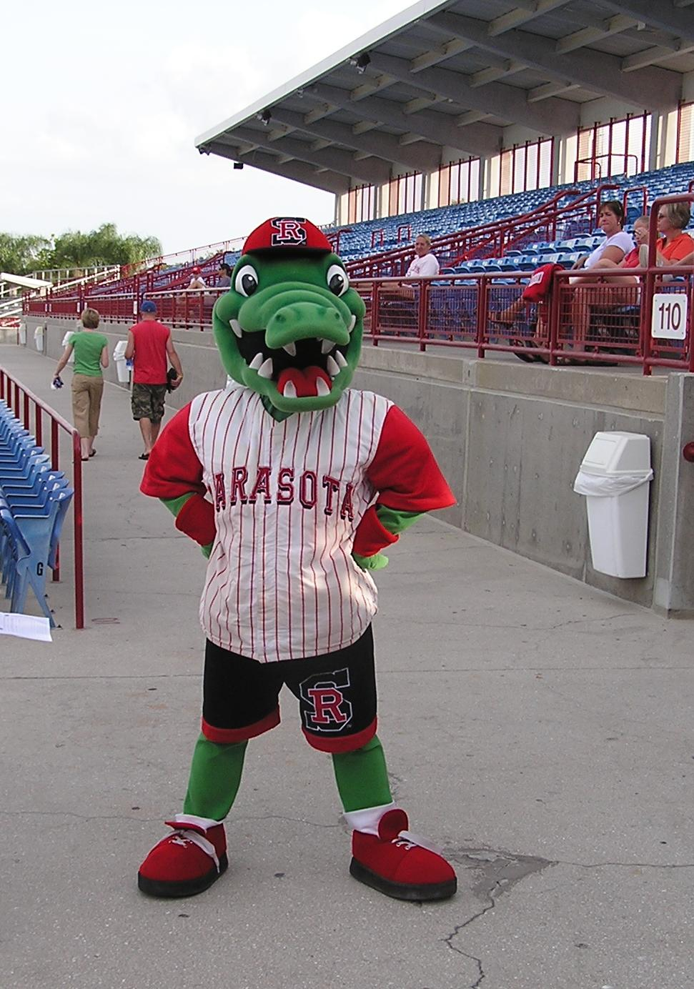 The Rally Gator, Sarasota's Excellent mascot